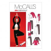 McCalls Ladies Easy Sewing Pattern 4261 Gym, Active Sportswear