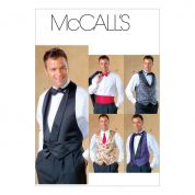 McCalls Mens Sewing Pattern 4321 Smart Waistcoat, Bowtie & Cummerbund