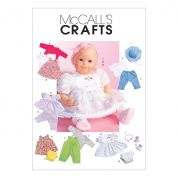 McCalls Crafts Sewing Pattern 4338 Baby Doll Clothes