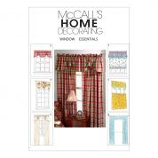 McCalls Homeware Sewing Pattern 4408 Curtains, Valances & Panels