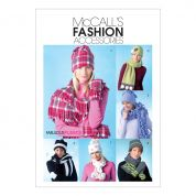 McCalls Ladies Easy Sewing Pattern 4681 Hats, Scarves & Convertible Mittens
