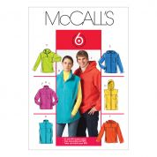 McCalls Ladies & Men's Easy Sewing Pattern 5252 Jackets & Gilets