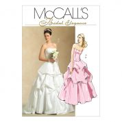 McCalls Ladies Sewing Pattern 5321 Wedding Dress Corset Top & Skirt