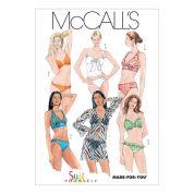 McCalls Ladies Sewing Pattern 5400 Bikinis & Beach Cover Ups