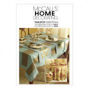 McCalls Homeware Easy Sewing Pattern 5439 Table top Essentials