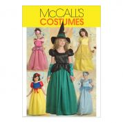 McCalls Girls Sewing Pattern 5494 Princess, Snow White & Witch Costumes