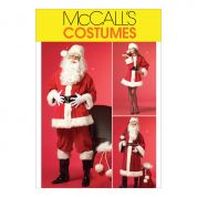 McCalls Ladies & Men's Sewing Pattern 5550 Father Christmas Santa Costumes & Bag