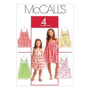 McCalls Childrens Easy Sewing Pattern 5613 Summer Pinafore Dresses