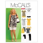 McCalls Ladies Plus Size Easy Sewing Pattern 5640 Tops, Dress, Shorts & Pants