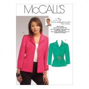 McCalls Ladies Sewing Pattern 5668 Princess Seamed Jackets