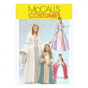 McCalls Ladies & Girls Sewing Pattern 5731 Princess Fancy Dress Costumes
