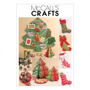 McCalls Crafts Easy Sewing Pattern 5778 Christmas Stockings & Decorations