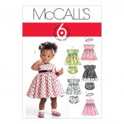 McCalls Toddlers Sewing Pattern 5791 Dresses, Panties & Headband