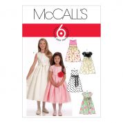 McCalls Girls Easy Sewing Pattern 5795 Special Occasion Dresses & Sash