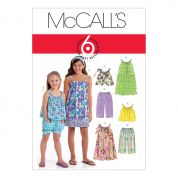 McCalls Girls Easy Sewing Pattern 5797 Tops, Dresses, Shorts & Pants