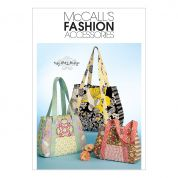 McCalls Accessories Sewing Pattern 5822 Tote Bag In 3