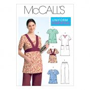 McCalls Ladies Sewing Pattern 5895 Workwear Uniforms Tops, Dress & Pants