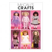McCalls Crafts Sewing Pattern 6005 Doll Clothes & Accessories