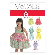 McCalls Childrens Easy Sewing Pattern 6017 Tops, Dresses, Shorts & Pants