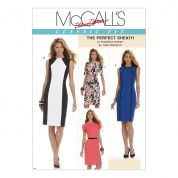 McCalls Ladies Sewing Pattern 6028 Fitted Panelled Dresses