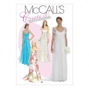 McCalls Ladies Sewing Pattern 6030 Lined Evening & Wedding Dresses