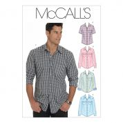 McCalls Men's Sewing Pattern 6044 Long & Short Sleeve Shirts