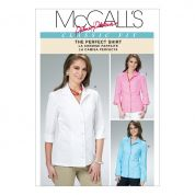 McCalls Ladies Sewing Pattern 6076 Shirt Blouse Tops