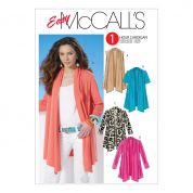 McCalls Ladies Easy Sewing Pattern 6084 Jersey Tops & Cardigans