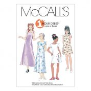 McCalls Childrens Easy Sewing Pattern 6098 Dresses In 2 Lengths