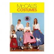 McCalls Girls Sewing Pattern 6101 Circular Skirt, Petticoat & Appliques