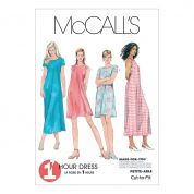 McCalls Ladies Sewing Pattern 6102 Dress In 2 Lengths with Cup Sizes