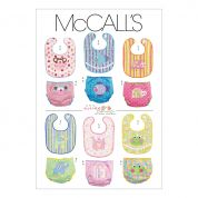 McCalls Baby Sewing Pattern 6108 Bibs & Diaper Nappy Covers