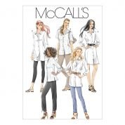 McCalls Ladies Sewing Pattern 6124 Shirts In 3 Lengths