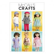 McCalls Crafts Sewing Pattern 6137 Doll Clothes Summer Wardrobe
