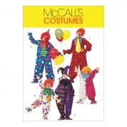 McCalls Family Unisex Easy Sewing Pattern 6142 Clown Costumes