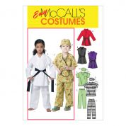 McCalls Childrens Unisex Easy Sewing Pattern 6184 Karate & Work Uniform Costumes