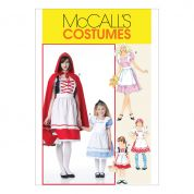 McCalls Girls Sewing Pattern 6187 Red Riding Hood & Storybook Costumes