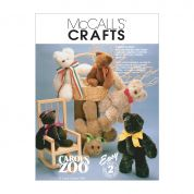 McCalls Crafts Sewing Pattern 6188 Stuffed Animals Teddy Bear Toys