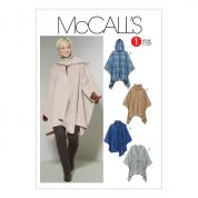 McCalls Ladies Easy Sewing Pattern 6209 Ponchos & Belt