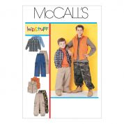 McCalls Childrens Sewing Pattern 6222 Shirt, Gilet & Pants