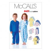 McCalls Childrens Easy Sewing Pattern 6224 Robe, Belt, Jumpsuit, Top, Shorts & Pants