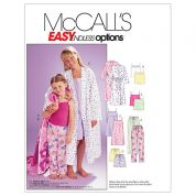 McCalls Childrens Easy Sewing Pattern 6225 Robe, Belt, Tops, Gown, Shorts & Pants