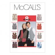 McCalls Ladies & Mens Easy Sewing Pattern 6228 Lined Waistcoats