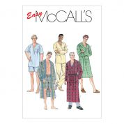 McCalls Men's Easy Sewing Pattern 6231 Dressing Gown & Pyjamas