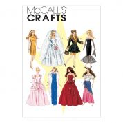 McCalls Crafts Sewing Pattern 6232 Fashion Doll Clothes