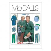 McCalls Men & Boys Easy Sewing Pattern 6236 Dressing Gown & Pyjamas