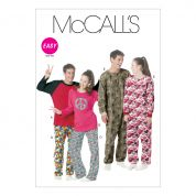 McCalls Adult & Teenagers Unisex Easy Sewing Pattern 6251 Pyjamas & Onesie