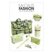 McCalls Sewing Pattern 6256 Project Tote Bag, Organizer/Knitting Needle/Scissor Cases & Yarn Holder