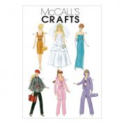 "McCalls Crafts Sewing Pattern 6258 Fashion Clothes For 11"" Doll"