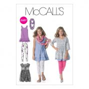 McCalls Easy Sewing Pattern 6275 Girls Casual Wear